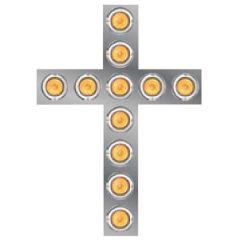 """SS Lighted Cross 26"""" x 18.5"""" (No Bezels)"""