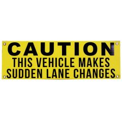"12"" x 36"" Sudden Lane Changes Sign"