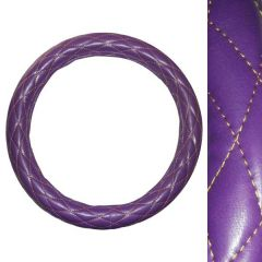 """Deluxe Purple and Gold Steering Wheel Cover 18"""""""