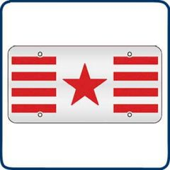 Red Stars and Stripes Decorative License Plate