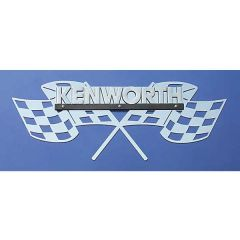 Kenworth Victory Checkered Flag Logo Trim
