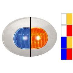 Dual Revolution Oval Mini Button LED Light