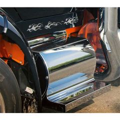Peterbilt 579 Stainless Steel Curved Battery Box