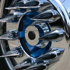Chrome Plated Billet Aluminum Front Oil Caps