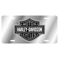 Harley-Davidson Grey Acrylic Mirror Tag