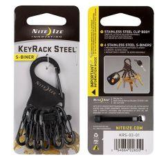 Keyrack Steel S-Biner Key Ring Clip