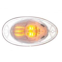"5"" Amber/Clear 7 LED FL Cascadia Turn Signal Light"