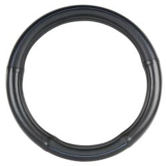 """Black with Blue Stitching Steering Wheel Cover 18"""""""