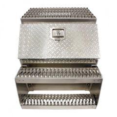 """24"""" Aluminum Step Saddle Box"""