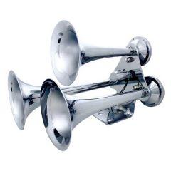 Chrome 3 Trumpet Train Horn
