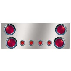 """SS Rear Center Panel with Four 4"""" and Four 2"""" LED"""