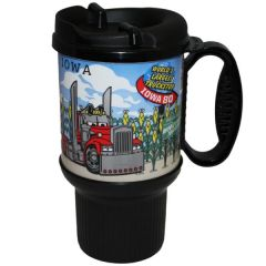 Iowa 80 Truck Crossing Cornfield Mug 20 oz.