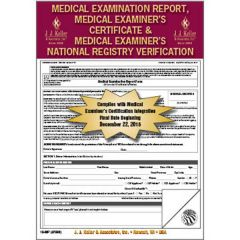Medical Exam Report, Certificate and Verification