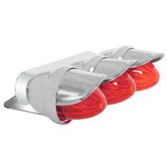 Red Triple Mini Bullet Style Marker Light