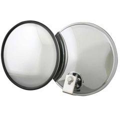 "7"" Stainless Steel Convex Mirror Offset Mount"