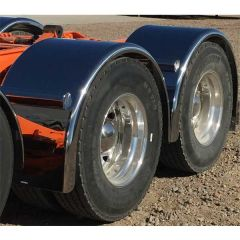 """90"""" 430 Stainless Low Rider Single Axle Fenders"""