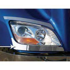 Peterbilt 579 Stainless Steel Under Headlight Trim