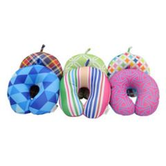 RoadPro Patterned Microbead Neck Pillow
