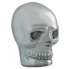 Chrome Skull Gear Shift Knob with Red LED Eyes
