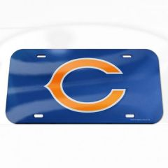 Chicago Bears Logo Crystal Mirror License Plate