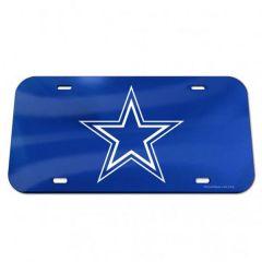 Dallas Cowboys Logo Crystal Mirror License Plate