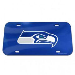 Seattle Seahawks Crystal Mirror License Plate