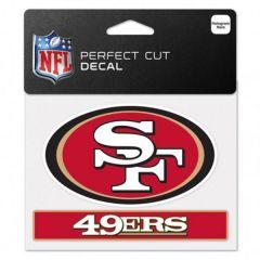 San Francisco 49ers Perfect Cut Color Decal