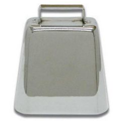 "3 3/4"" Small Chrome Cow Bell"