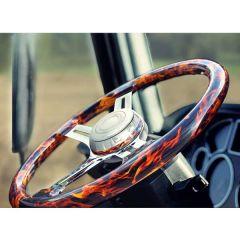"""4 Spoke Flame Steering Wheel 18"""""""