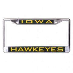 Iowa Hawkeyes Inlaid Metal License Plate Frame