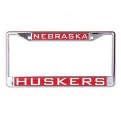 Nebraska University 4Tab Metal License Plate Frame