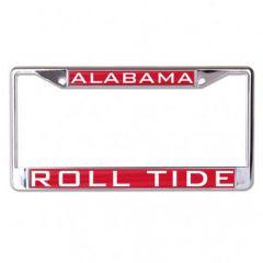 Alabama University 4-Tab Metal License Plate Frame