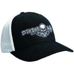 Diesel Life Black/White Flex Fit Trucker Hat