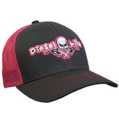 Diesel Life Charcoal/Pink Snap Back Trucker Hat