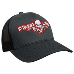 Diesel Life Charcoal/Red Snap Back Trucker Hat