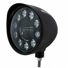 Black Groove Blackout LED Headlight with Visor