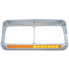 Sequential Amber LED Dual Headlight Bezel with Visor