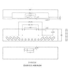 "FL Classic 1984-1999 20"" Boxed End Chrome Bumper"