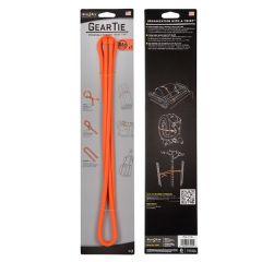 "64"" Bright Orange Reusable Rubber Twist Tie"