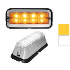"""4"""" Amber 8 LED Rectangular Strobe Light"""