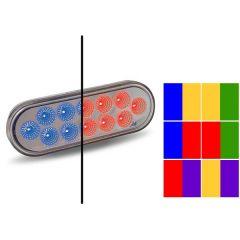 12 LED Oval Revolution Dual Function Light