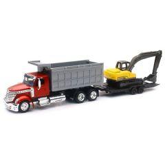 International Lonestar Dump Truck with Excavator