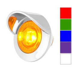 "1"" Dual Function Mini LED Light with Chrome Bezel & Visor"