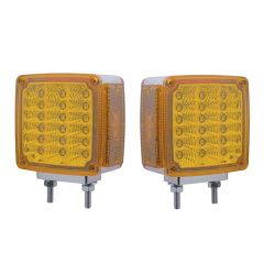39 Amber & Red LED Reflector Double Face Turn Signal Light
