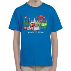 Iowa 80 Truck Crossing Blue Kids T-shirt