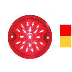 "3-1/4"" 21 LED Dual Function Harley Signal Light with 1157 Plug"