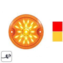 "3-1/4"" 21 LED Harley Signal Light with 1156 Plug"