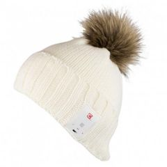 Ivory Beanie with Built-In Bluetooth Headset