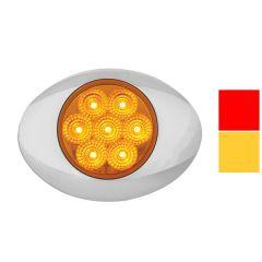 7 LED Spyder Marker & Turn Light with Chrome Bezel
