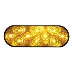 "6-1/2"" Amber 10 LED Park/Turn/Clearance Light"